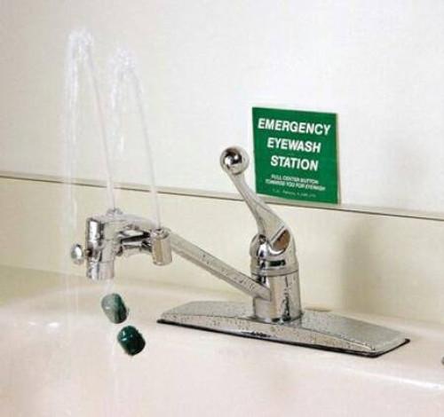 Faucet Mount Eye Wash Station, Continuous Flow