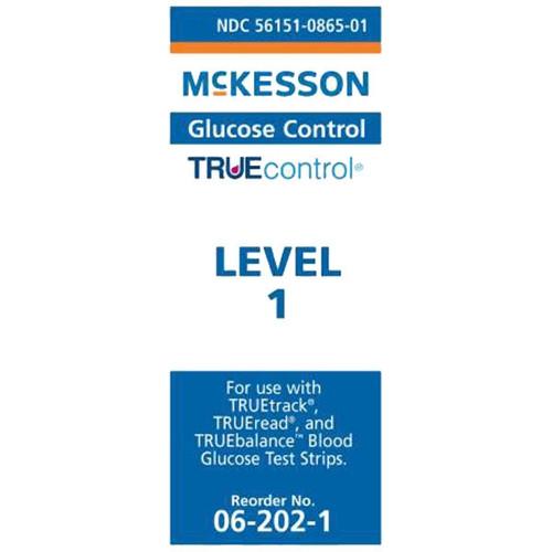 McKesson TRUEcontrol Glucose Control Solution - Level 1