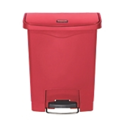Step On Trash Can, Rubbermaid - Red Plastic