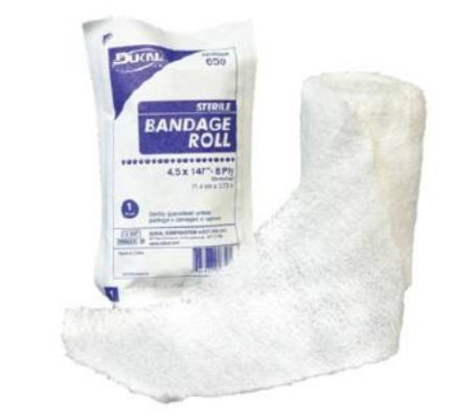 "Gauze Bandage Roll, 6-Ply Cotton, 4.5"" x 4.1 yrds"