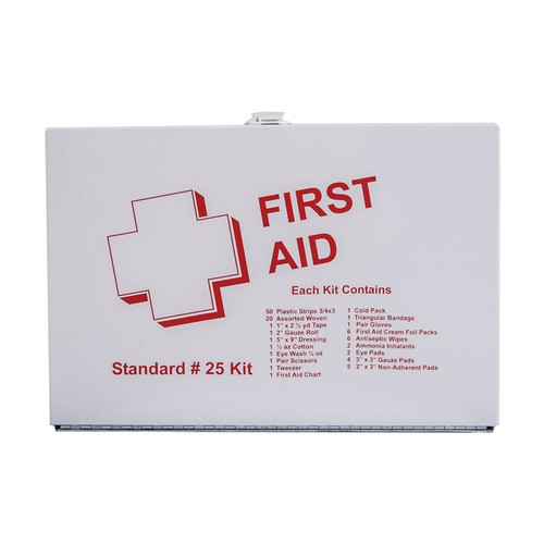 Basic First Aid Kit, 25 Person