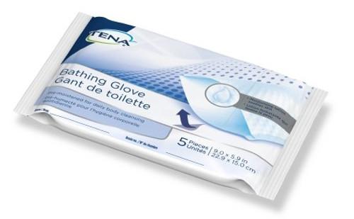 Bathing Glove Wipe Tena Soft Pack Scented