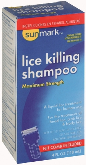 sunmark Lice Shampoo 4 oz. Bottle Scented