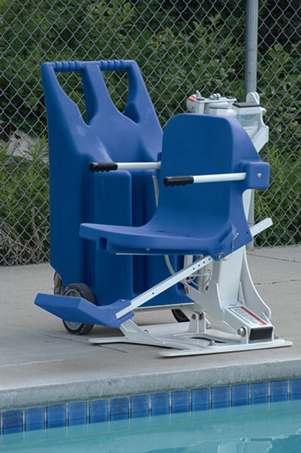 the portable pro pool lift w weight plates