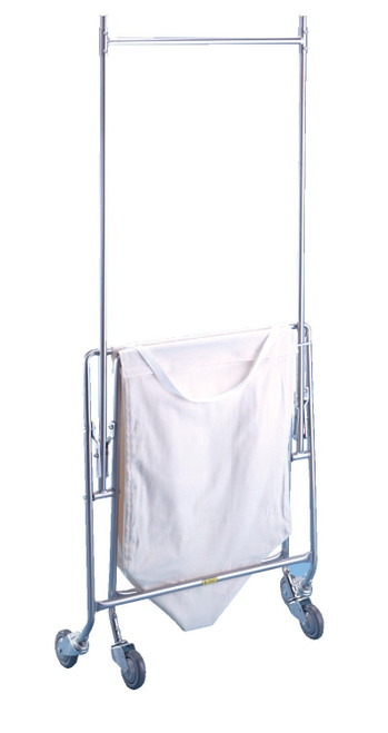 """Collapsible Hamper w/ Canvas Bag & Double Pole Rack (75"""" High)"""