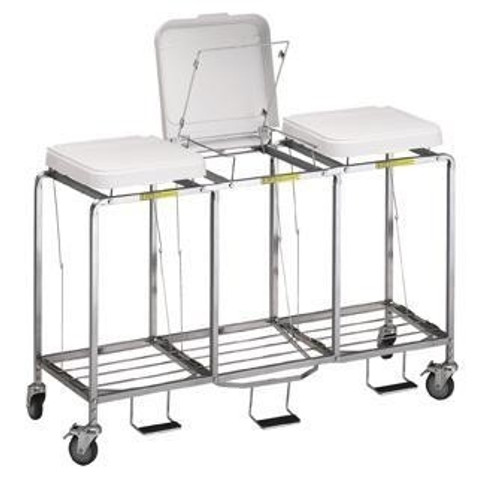 """Triple """"Easy Access"""" Hamper w/ Foot Pedal - No Bag"""