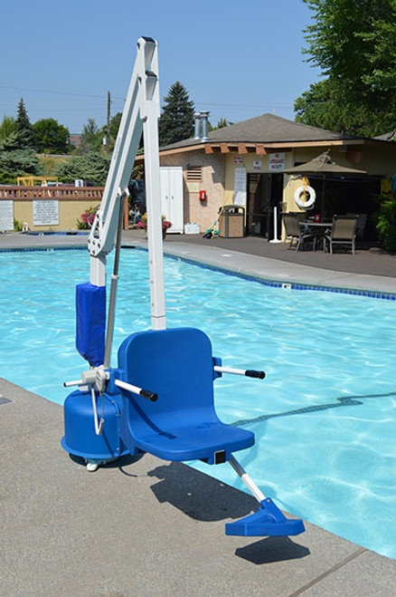 the scout 2 pool lift adjustable seat pole