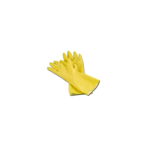 Utility Glove Ambitex L6502 Flock Lined Latex Yellow 12 Inch Beaded Cuff NonSterile