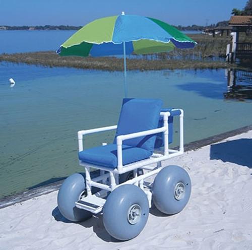 beach access chair 4 large wheels 300 lb capacity