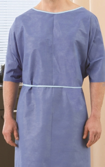 Patient Exam Gown One Size Fits Most Adult Blue