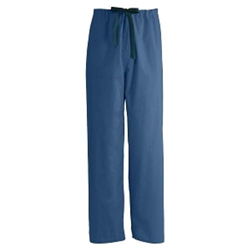 Encore Unisex Reversible Drawstring Scrub Pants, Navy