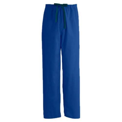 Encore Unisex Reversible Drawstring Scrub Pants, Royal Blue