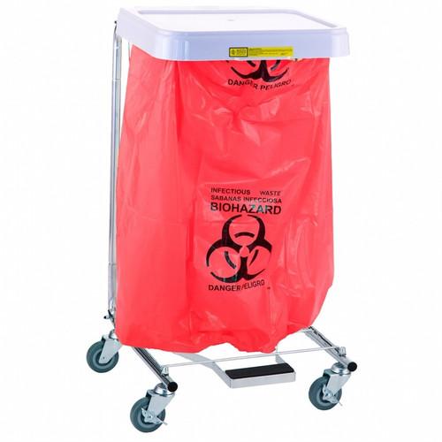 """Biohazardous Waste"" Disposable Poly-Liner Bag, Red-Blk Print (250/case)"