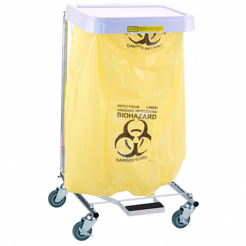 """""""Infectious Linen"""" Disposable Poly-Liner Bag, Yellow-Red Print (250/case)"""