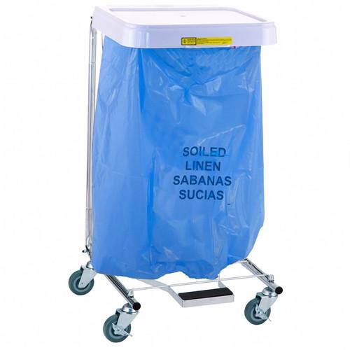 """Soiled Linen"" Disposable Poly-Liner Bag, White-Blue Print (250/case)"