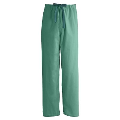Encore Unisex Reversible Drawstring Scrub Pants, Jade Green