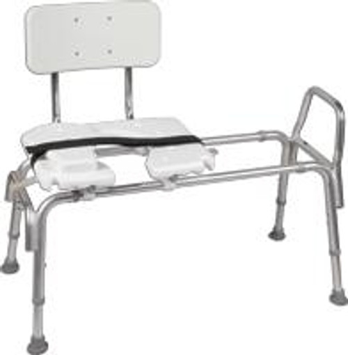 Heavy-Duty Sliding Transfer Bench with Cut-Out Seat