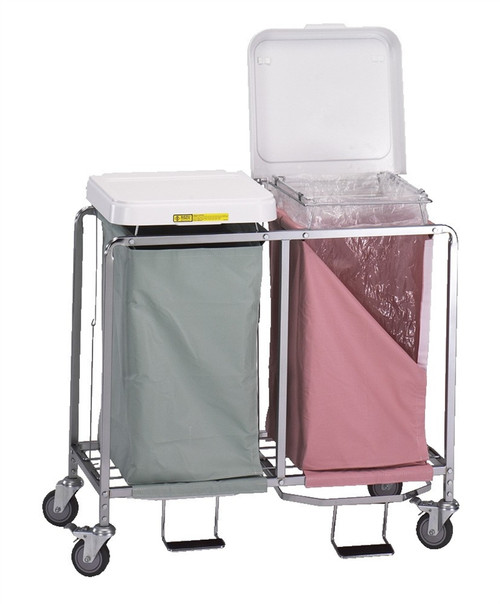 """Double """"Easy Access"""" Hamper w/ Foot Pedal"""