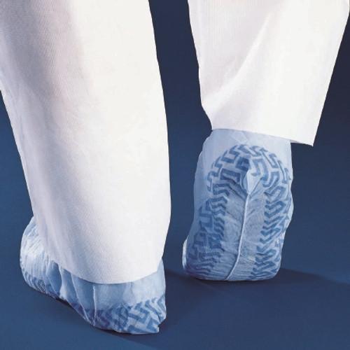 Shoe Cover Basics Regular Shoe-High Traction Strips Blue NonSterile