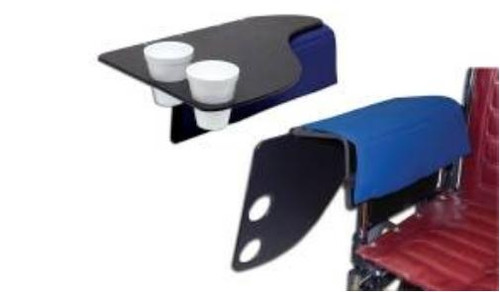 Wheelchair Flip Tray with Cup Holder