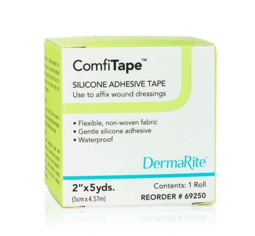 Medical Tape ComfiTape Waterproof Silicone Tan NonSterile