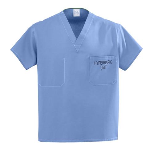 100% Cotton Unisex Reversible Hyperbaric Scrub Tops
