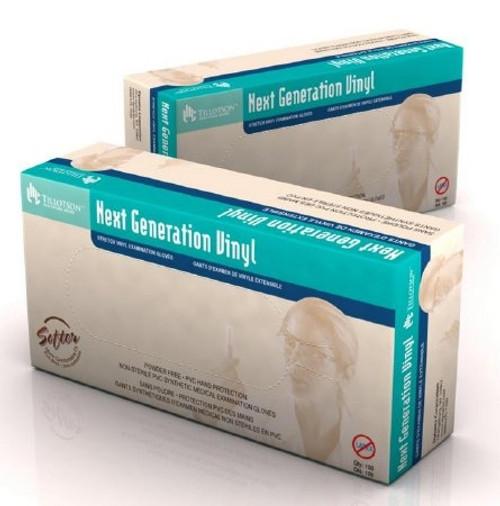 Exam Glove Next Generation Vinyl NonSterile Ivory Powder Free Stretch Vinyl Ambidextrous Smooth Not Chemo Approved