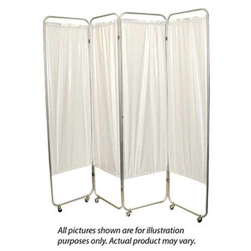 standard 4panel privacy screen casters