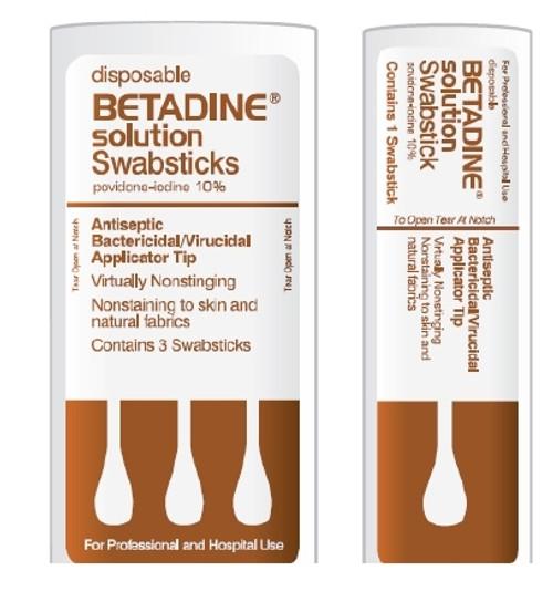 Purdue Pharma Betadine Impregnated Swabstick