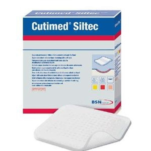 Silicone Foam Dressing Cutimed Siltec Square Silicone Adhesive without Border Sterile