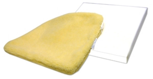 Solid Foam Cushion with Sheepskin Cover