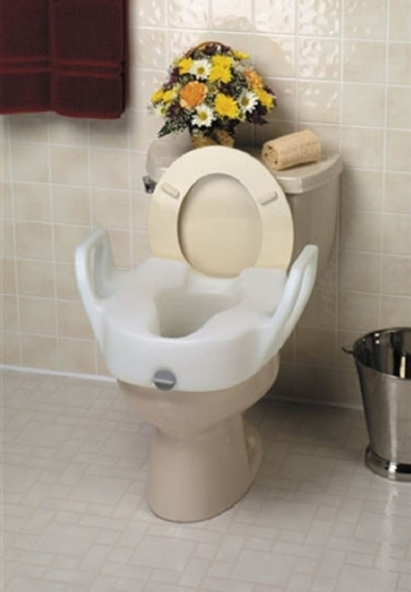 Maddak Raised Toilet Seat with Arms