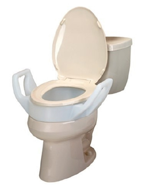 Maddak Bath Safe Raised Toilet Seat with Arms