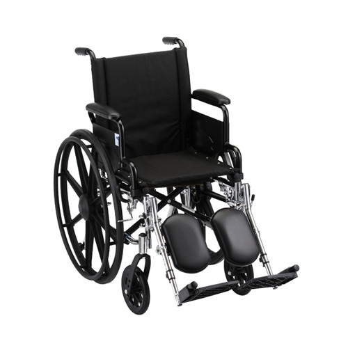 16 Inch Lightweight Wheelchair w/ Desk Arms & Elevating Leg Rests