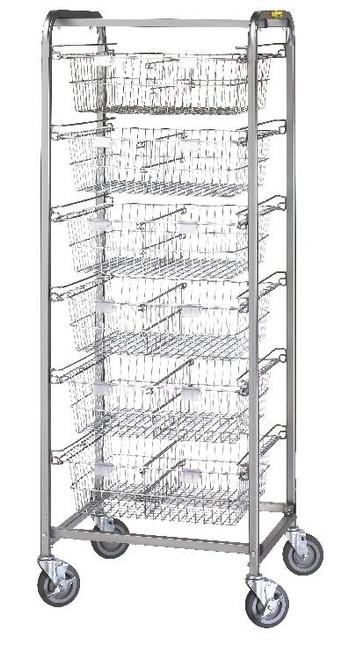 Six Basket Resident Item Cart