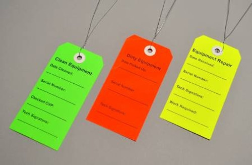 Equipment Tags - Multi Color