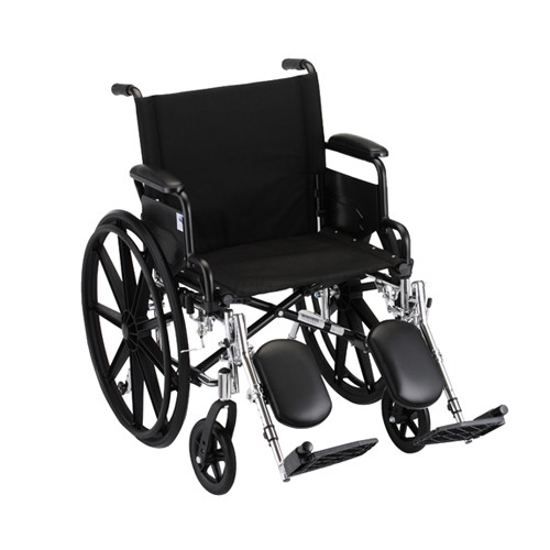 "20"" Lightweight Wheelchair w/ Desk Arms & Elevating Leg Rests"