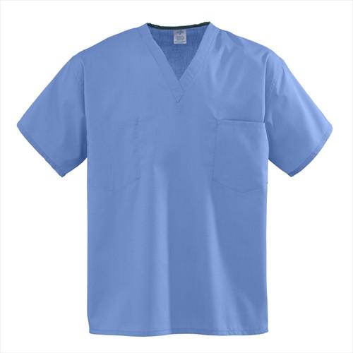 Premier Cloth Set-In Sleeve Scrub Top - Ciel Blue