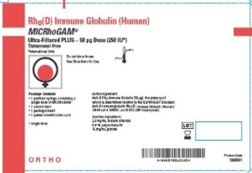 Kedrion Biopharma MICRhoGAM Hemolytic Disease of the Newborn / Suppression of Rh Isoimmunization