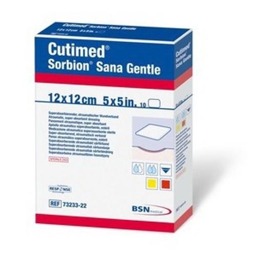 Wound Dressing Cutimed Sorbion Sana Gentle Cellulose / Gel-Forming Polymers / Polyethylene