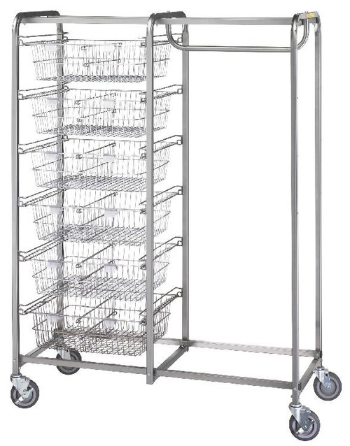 Six Basket/Garment Hanger Resident Item Cart