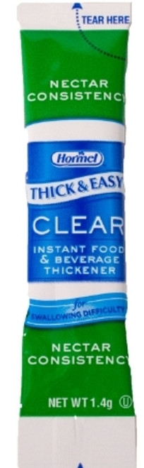 Food and Beverage Thickener Thick & Easy Clear 1.4 Gram Individual Packet Unflavored Ready to Mix Nectar Consistency