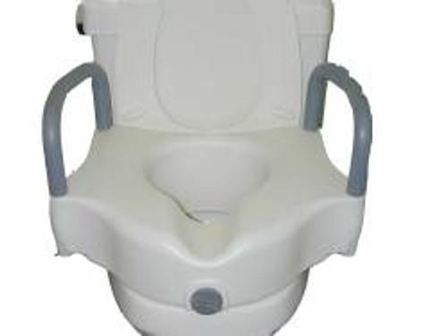 sunmark Locking Raised Toilet Seat with Padded Armrests