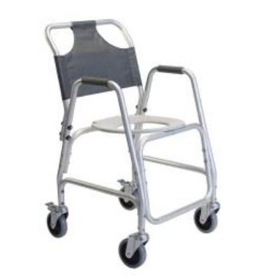 Shower Transport Commode Chair with Footrest Frame