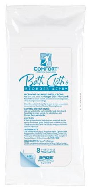 Bath Wipe Comfort Bath Soft Pack Purified Water Methylpropanediol Glycerin Unscented