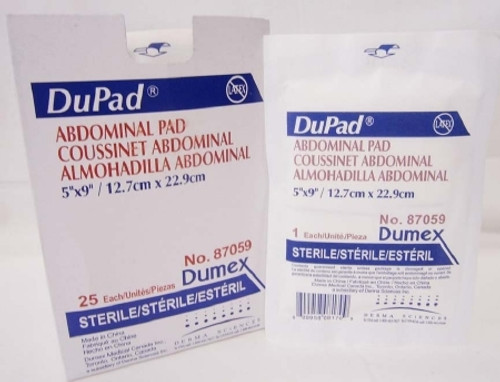 Abdominal Pad DuPad Cellulose / Hydrophobic Material / Moisture Barrier Rectangle Sterile