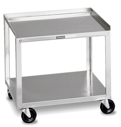 Mobile Stand - Stainless Steel - 2-shelf