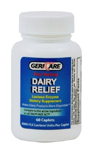 Geri-Care GeriCare Dairy Relief Lactase Enzyme Supplement