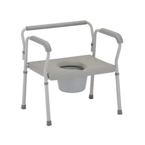 Heavy Duty Commode with Extra Wide Seat