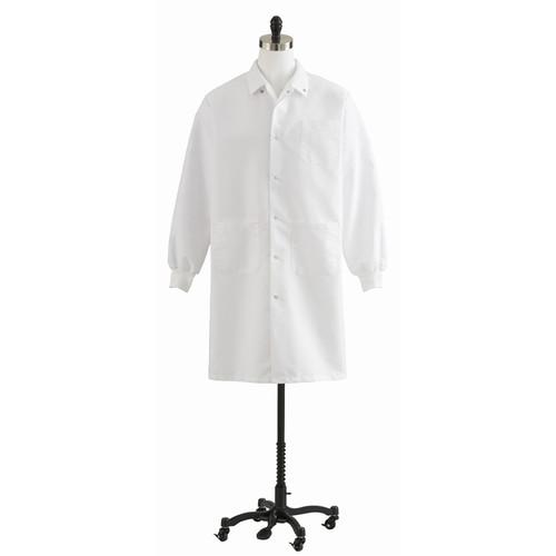 Unisex Knit Cuff Knee Length Lab Coats